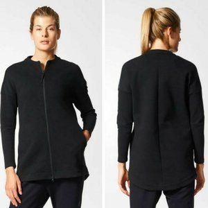 Adidas Black Z.N.E. Cover Up Top Zip Jacket Small